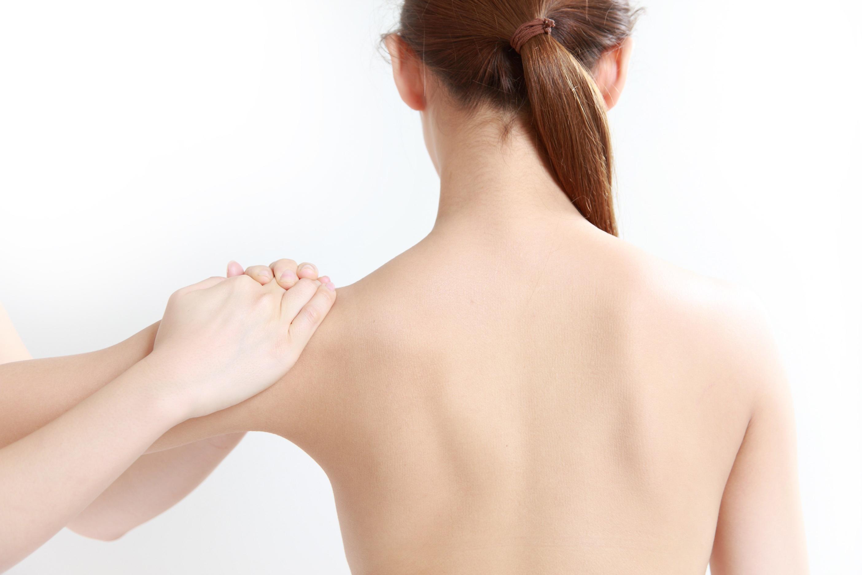 girl's spine